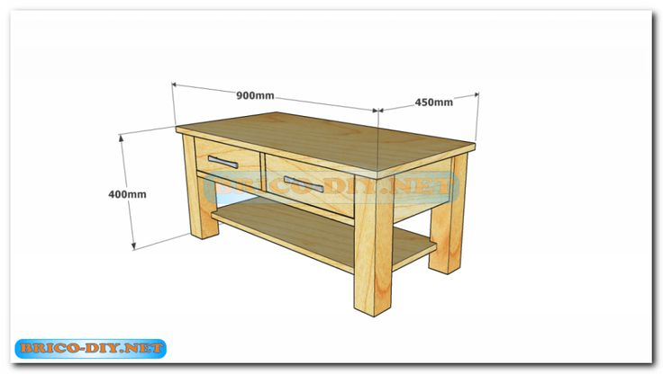 Plano como hacer mesa de centro madera web del bricolaje - Hacer muebles de madera ...