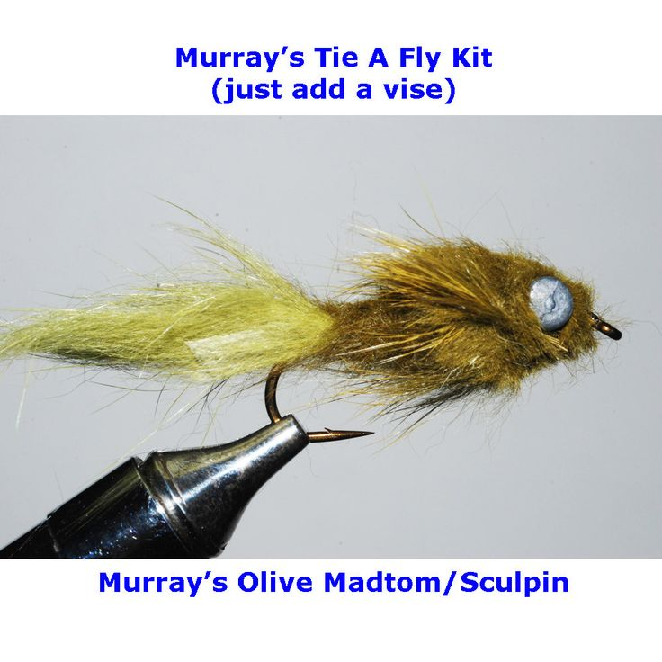 30 best sculpin patterns images on pinterest garlands for Fly fishing tying kit