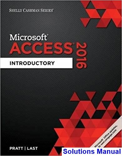 39 best solutions manual download images on pinterest shelly cashman series microsoft office 365 and access 2016 introductory 1st edition pratt solutions manual fandeluxe Gallery