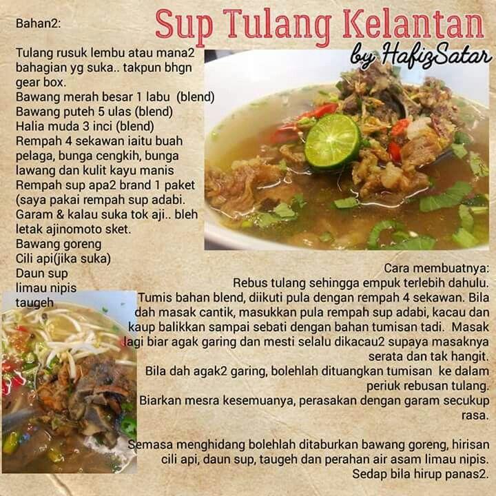 Sup Tulang Kelantan Cooking Recipes Food Food Processor Recipes
