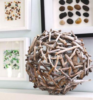 diy drift wood orb home decor hatalmas dekorcis gmbk fagakbl egyszeren mindy creative - Home Decor Crafts