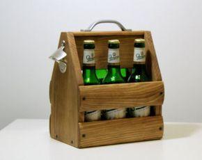 Puzzle madera portador de cerveza Six Pack con diseños de