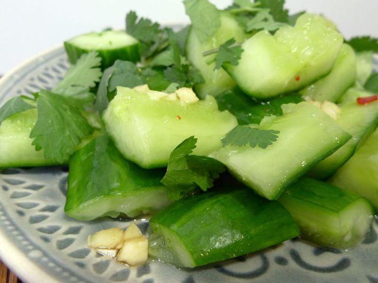 Chinese komkommersalade
