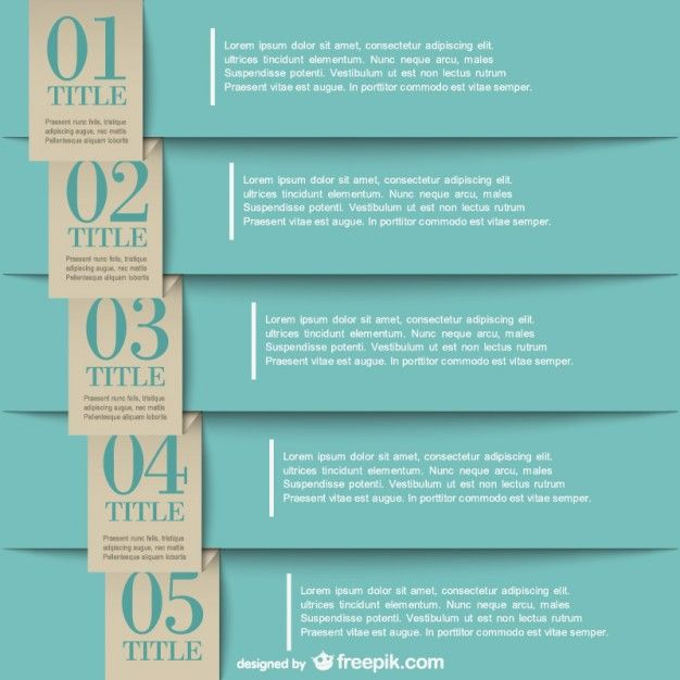 Infographic paper labels design Free Vector