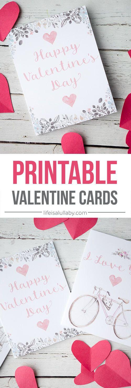 25 best ideas about Free printable valentine cards – Pretty Valentine Cards