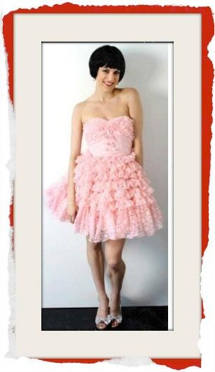 Classic Betsey Pink Lace & Tulle Formal Dress originally made for celebrity Kelly Osbourne. $249 info@fashionjazz.com.au