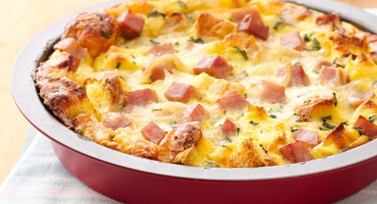 Ham and Cheese Breakfast Bake - a quiche-inspired egg dish that can be prepped in advance, and baked in the morning.