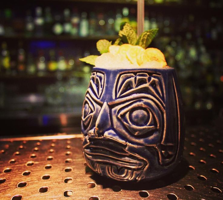 Hannibal the cannibal #thebluecup_skg #tiki #cocktail