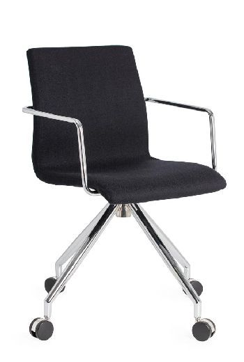The Design Spider super sleek slim-line styling creates a practical Visitor chair suited to commercial and residential use. It features a fine thin stainless steel tube frame and can be upholstered in your choice of fabric #seated #spider #design #modern seated.com.au