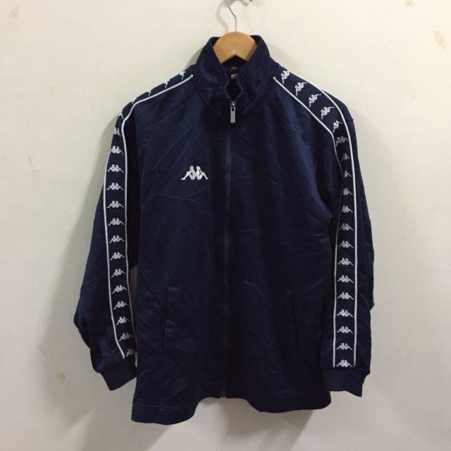 Men`s Vintage KAPPA Tracksuit Top Full Zipper Track Jacket