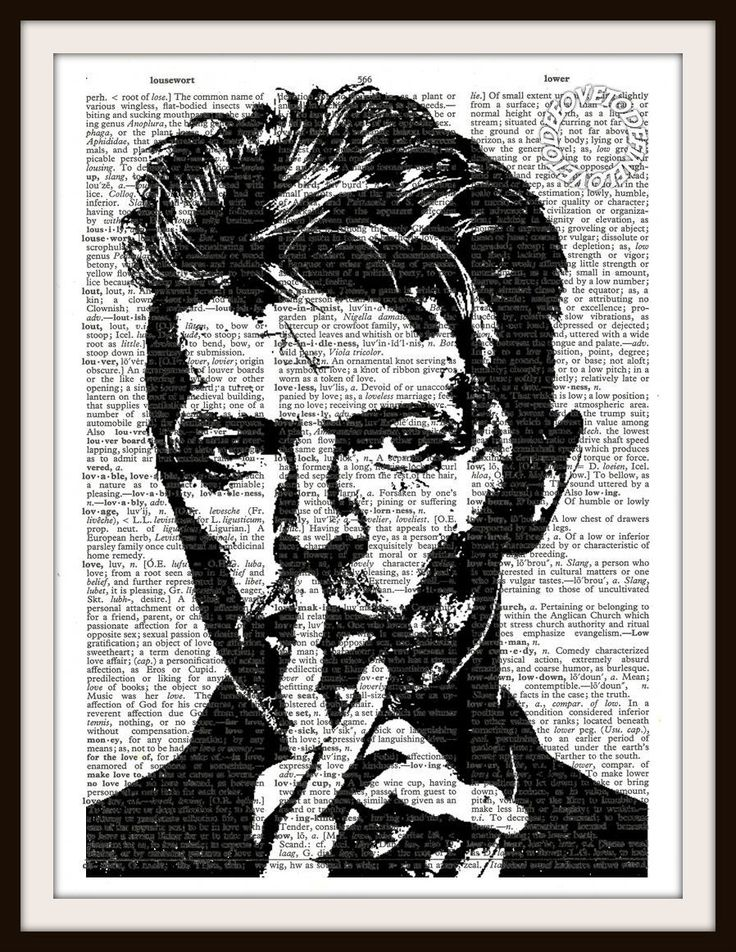 David Bowie Silhouette Vintage Dictionary Art by LoveToDefine