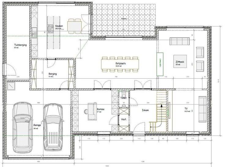 25 beste idee n over moderne huizen op pinterest for Grondplan badkamer
