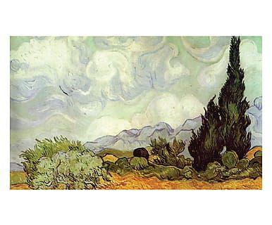 Tappeto multiuso digitale Campo di Grano con Cipressi Van Gogh