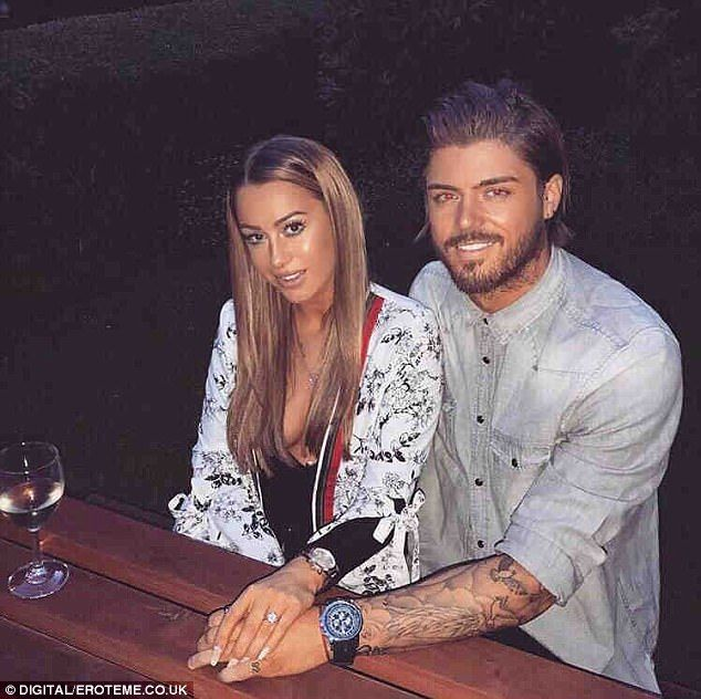 Way back when:While their news is certainly delightful, it will undoubtedly come as a shock to some as fans only learnt of their relationship in October when she finally confirmed split claims about her relationship with Stephanie Davis' ex Sam Reece (pictured together in May)
