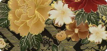Robert Kaufman Fabrics: Hyakkaryouran Sateen: Cotton Quilting Fabric