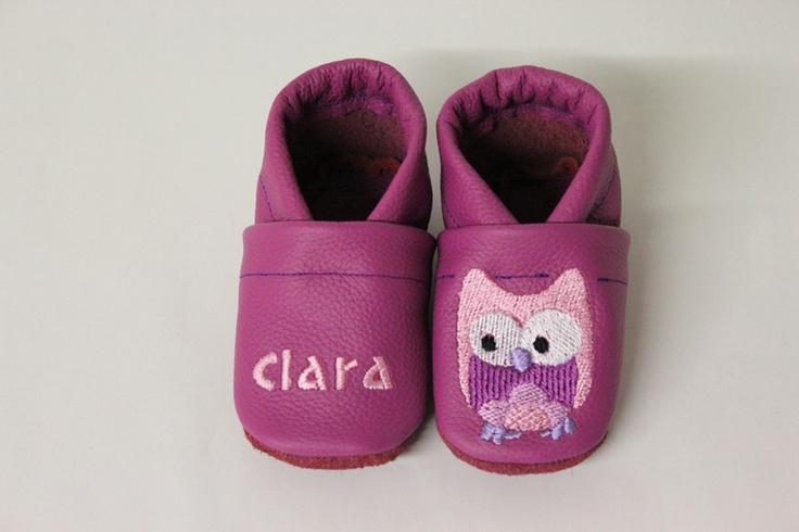 Baby schoenen / Babyslofjes Uil by Lieblingslaedchen via http://nl.dawanda.com/