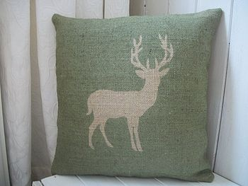 stag cushion. What's not to love?