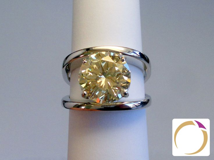Platinum ring, set with a 5.31ct diamond - Made at Goldsmiths