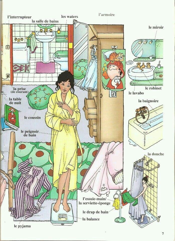 La salle de bains en Francés