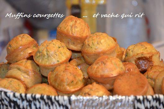 muffins courgettes vache qui rit,de délicieux muffins salés à la courgette râpée et vache qui rit fondante