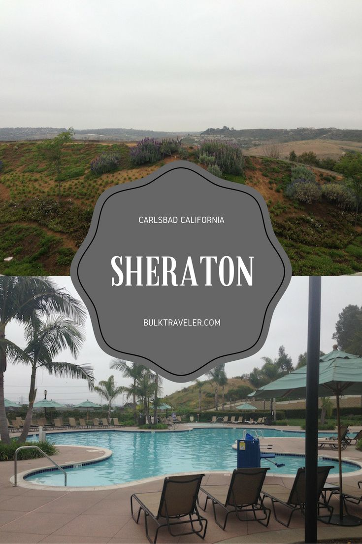 If you ever find yourself in Carlsbad, California then I have just the hotel for you. Stop by the Sheraton Carlsbad Hotel.