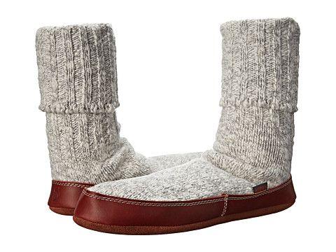 Acorn Slipper Sock Grey Ragg Wool - Zappos.com Free Shipping BOTH Ways