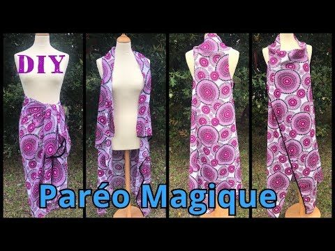 Paréo Magique - Tutoriel Couture DIY - YouTube