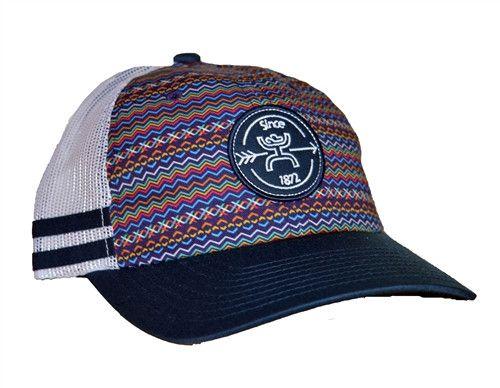 "HOOey Hat Women's Navy/White ""Tremor"" Snapback Trucker Ball Cap 1576T-GYWT OSFA"