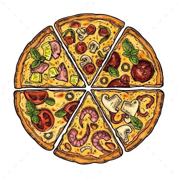Pizza Margherita Disegno Pizza Drawing Pizza Art Pizza Slice