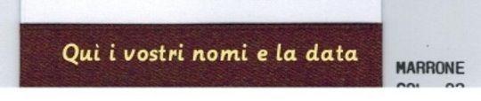 NASTRO MATRIMONIO RAME DOPPIO RASO MM. 15 bomboniere portaconfetti + OMAGGIO
