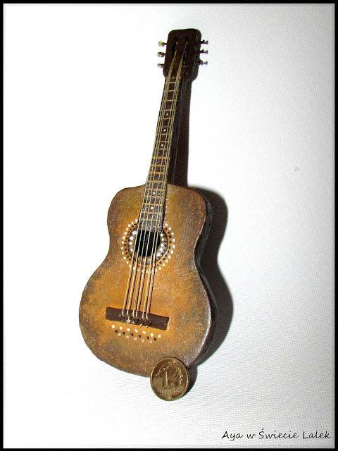 Aya w Świecie Lalek: Gitara z tektury