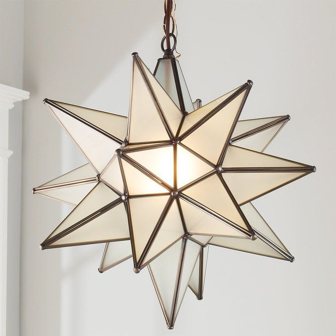 Superior Moravian Star Light frosted_glass_and_bronze