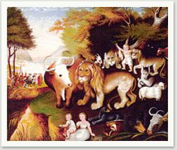 hicks peaceable kingdom essays Edward hicks (1780-1849) was an american folk painter whose chief subject was the peaceable kingdom,  based on the biblical prophecy from isaiah edward hicks was born on april 4, 1780, in a small pennsylvania town (now langhorne) he was orphaned early and boarded out at the age of 3 to david .