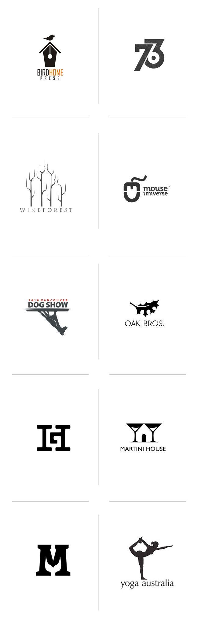 Negative space logos we love | http://www.slickfish.com/logo-design/logos-use-negative-space