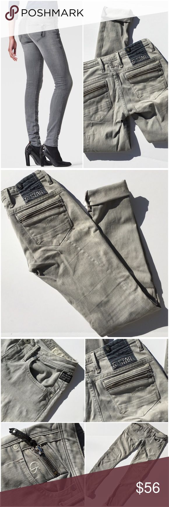 "G-Star Raw Jeans These are some of the coolest jeans I've ever owned, the fit and construction is amazing. This brand's craftsmanship with street level edge is what it's all about. Inseam un-cuffed is 33.5"" (13 G-Star Jeans Skinny"