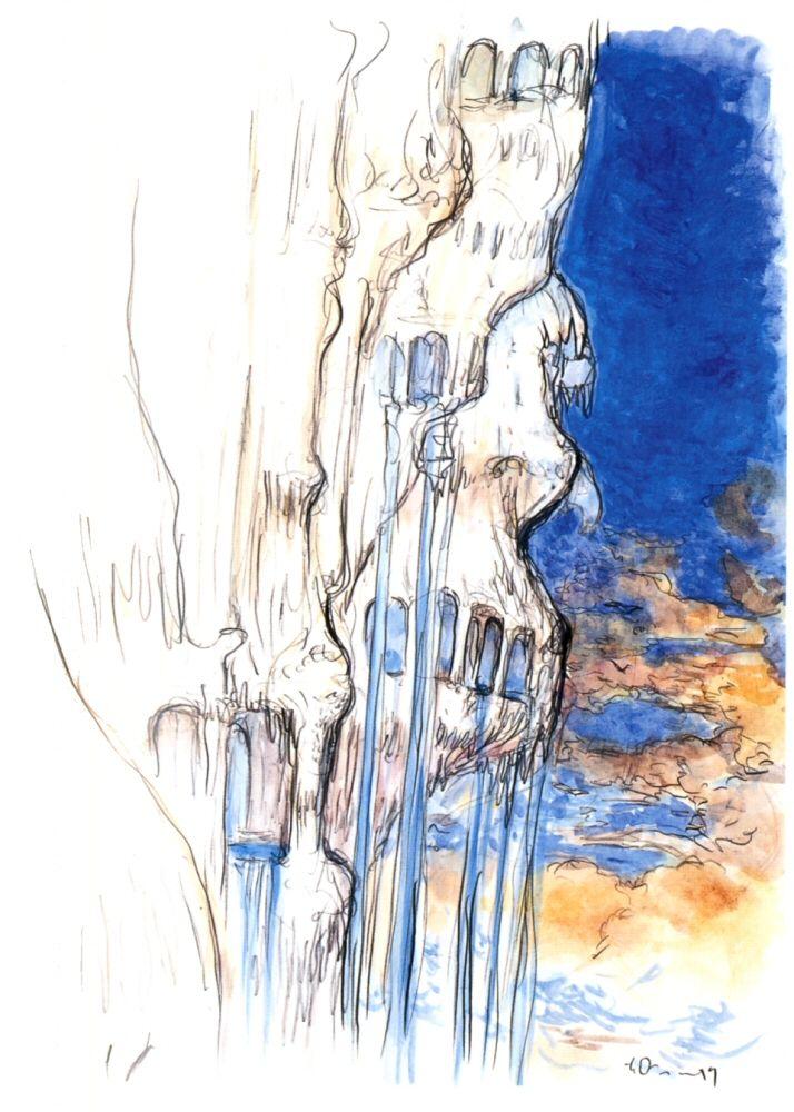 Final Fantasy Ix Alexander Concept Art Yoshitaka Amano