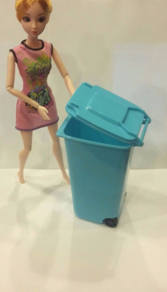 NEW Trash Garbage Recycle Waste Can for Barbie & Ken cleaning house Accessory #Unknown