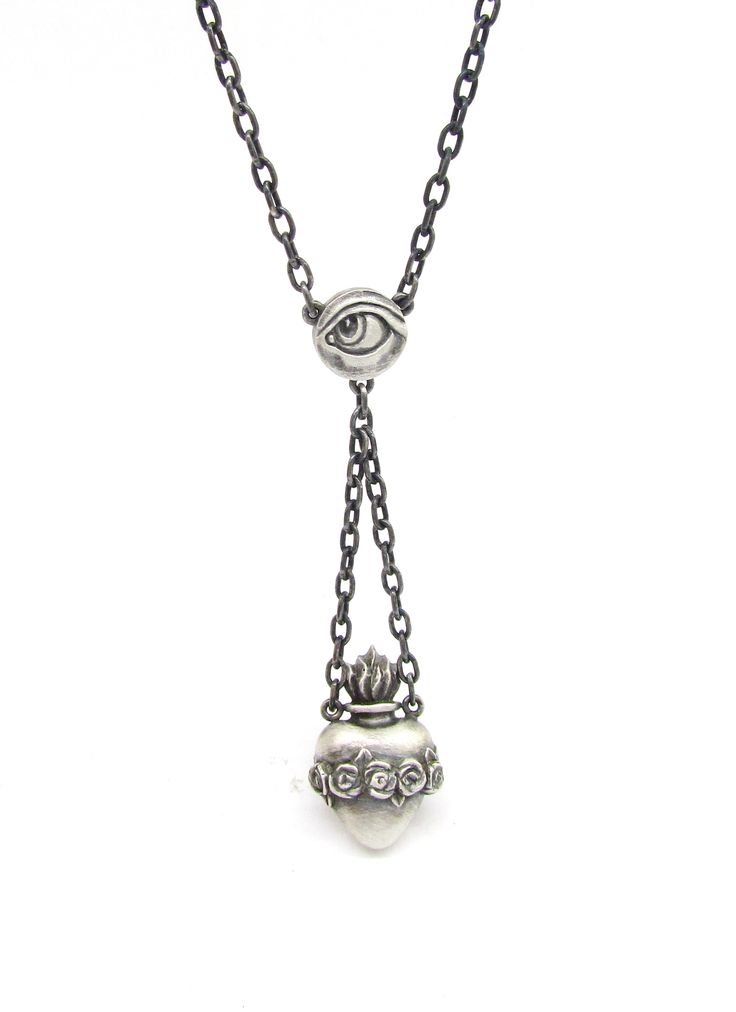 New 'MARY' sacred heart necklace from Sirkel Jewellery in sterling silver.