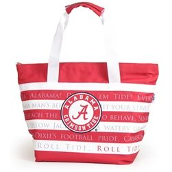 Roll Tide! Our new Fight Song Cooler is the ultimate Christmas gift for the Alabama Crimson Tide fan on your list!Our completely redesigned cooler features a heat sealed liner (no leaks!) and Alabama Fight Song with collegiate logo emblazed on front. Zipper closure and removable exterior mean tossing in the wash is no problem! It�s a win win. #rolltide