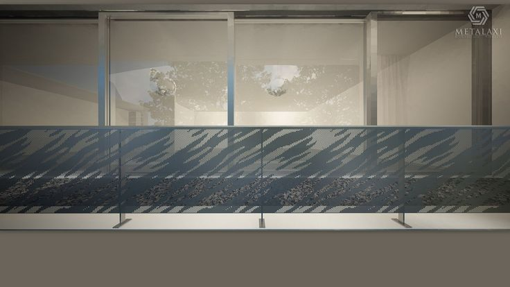 """Privacy: The most important feature of the balcony balustrade would probably be ensuring comfort and freedom of movement while """"censoring"""" the prying eyes of neighbors or passersby. Metalaxi Innovative Architectural Products. www.metalaxi.com Life is in the details."""