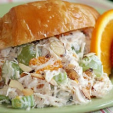 Gourmet Chicken Salad with grapes, almonds mandarin oranges