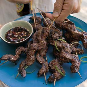 Beef Satay with Ginger Dipping Sauce | Yummy | Pinterest