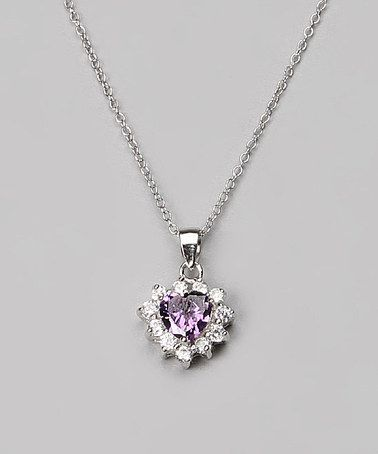 Loving this Sterling Silver & Amethyst Heart Pendant Necklace on #zulily! #zulilyfinds