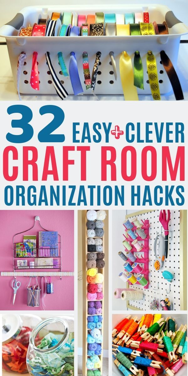 30 Clever Ways To Organize Your Craft Supplies Feeling Nifty Craft Room Ideas On A Budget Sewing Room Organization Small Craft Rooms