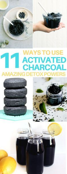 AMAZING activated charcoal uses! Detox drink recipe, hangover cure, weight loss, diy soap, diy scrub, diy activated charcoal mask, diy mascara