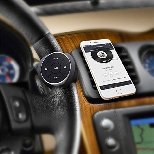SITAILE Wireless Bluetooth Media Steering Wheel Remote Control mp3 Music Play for Android IOS Smartphone Control Car Kit Styling http://ali.pub/1uski2