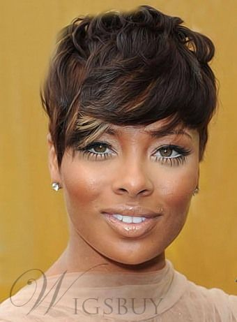 new fashion trend short wavy wig with specially designed