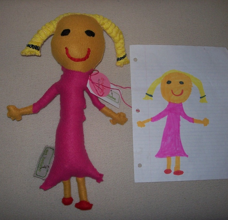 kids drawings brought to life.  Love this idea!