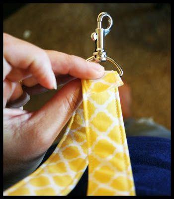 Pink Buckaroo Designs: Fabric Lanyards Tutorial