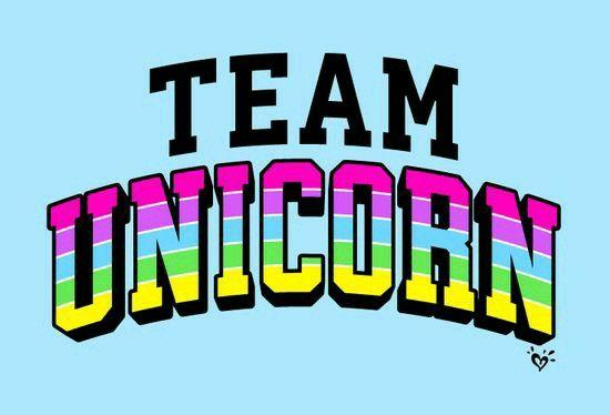 Team unicorn banderín idea